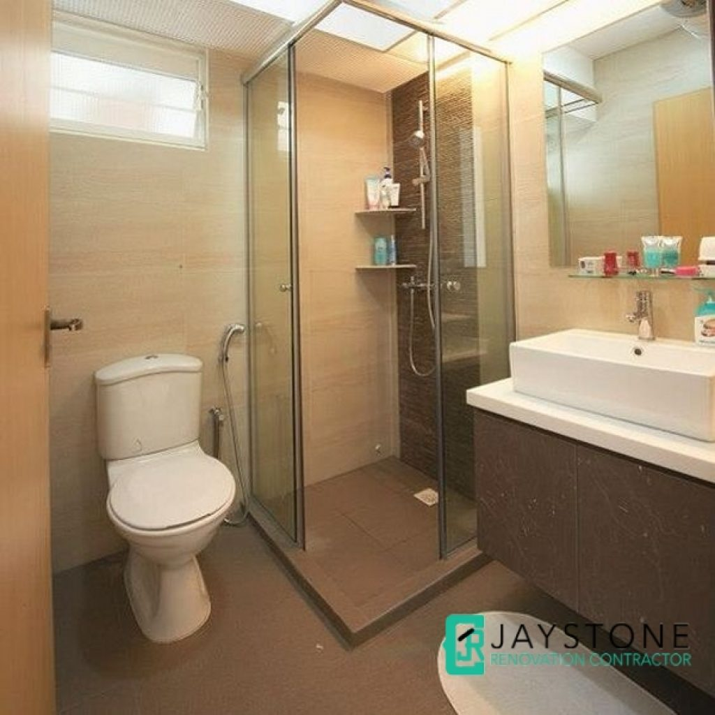 Bathroom toilet renovation jaystone renovation for Small bathroom ideas hdb